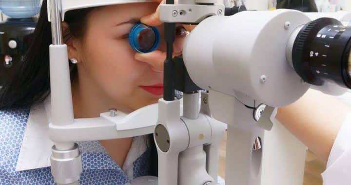 Visiting an eye clinic